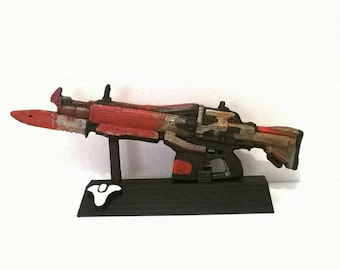 Customized replica inspired in Red Death from Destiny videogame 3D printed