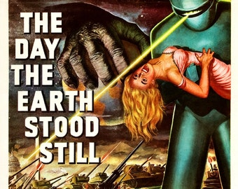 Vintage The Day the Earth Stood Still Movie Poster Print