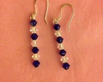 Swarovski beaded earrings