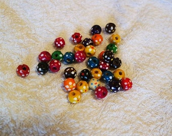 Wood beads/10 pieces per lot