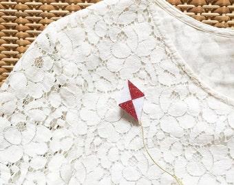 Kite - brooch - Handmade - La Rochelle