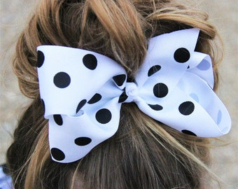 Polka Dot Large Bow (7 inch) - Several Colors Available!