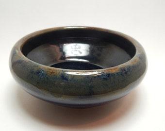 "8"" Hand Thrown Earth Toned Ceramic Bowl"