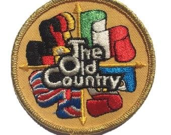 """Vintage """"The Old Country"""" Patch"""