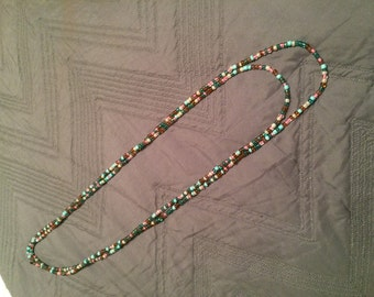 Teal multicolor wrap necklace //FREE SHIPPING!