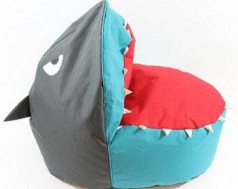 Blue Shark Bean Bag Chair