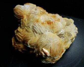 Crested barium and wulfenite, 490 g
