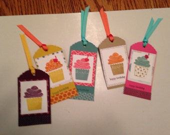 Birthday Gift Tags with Ribbon