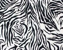 Zebra Print Knit Fabric