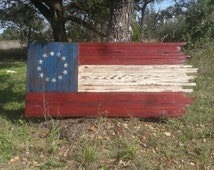 Tattered n Torn, Stars n Bars Flag, Wooden Flag, Distressed, Rustic, Historic Texas Flag, Patriotic Flag, Wooden Texas Flag, Barn Wood Flag