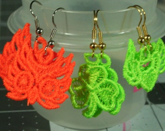 Free standing lace earrings