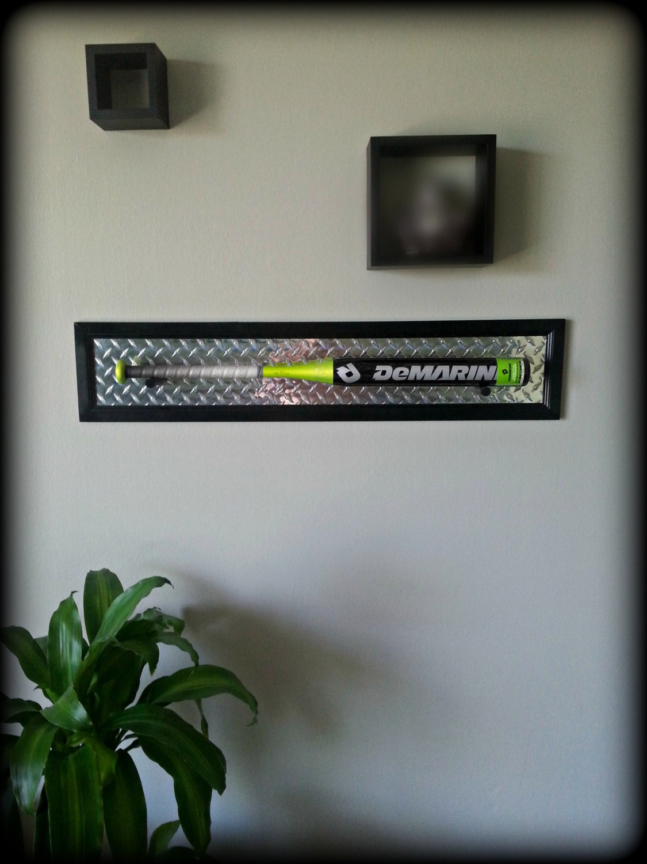 Black Baseball Bat Plaque Display Wall Mount By Industrialtd