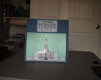 Mounted LDS Vinyl Temple