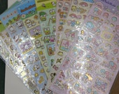 Special of the Week : Japanese Sanrio Hello Kitty n Family Golden Outline Sticker 1 Sheet (9choice) - perfect for traveler's, weekly planner