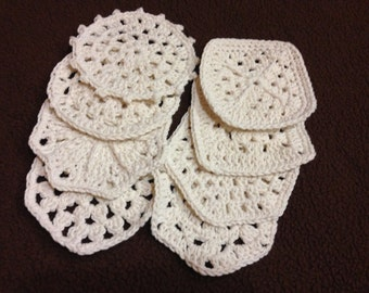 Crocheted coasters, 2 sets