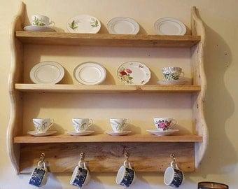 Wooden Plate / Cup Shelf