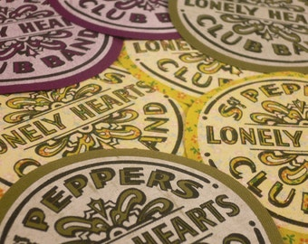 Iron-on Beatles' Sgt. Pepper patch