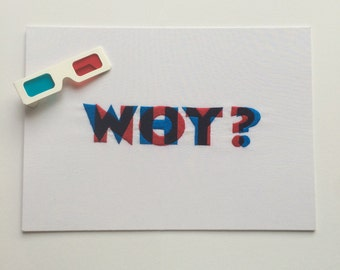 Anaglyph embroidery – Why/Why not?