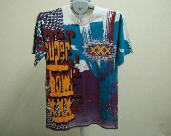 Rare Vintage 96' XXX SUPER BOWL Shirt Size L Large