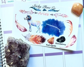 Aries Zodiac Sign Sticker Kit