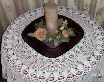 Handmade Cotton White Tablecloth