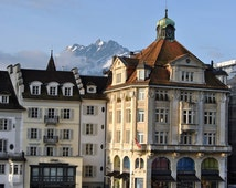 Switzerland Photography - Lucerne Architecture - Wall Art Photography - Swiss Alps - Wall Decor