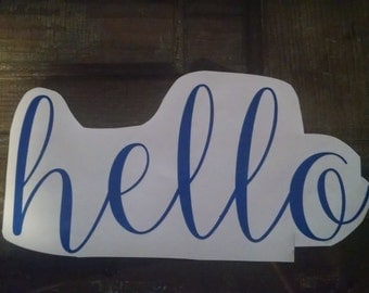 Hello Vinyl Decal