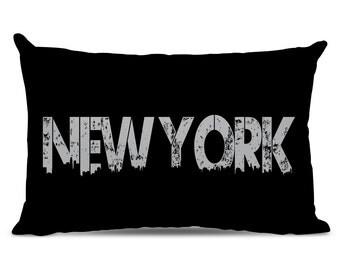 New York Pillow - New York Skyline Pillow - City Pillow - Urban Throw Pillow - New York Gift - City of New York