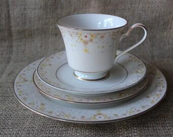 SALE...Vintage Noritake Fragrance 7025 Rare Pattern Dishes, Fine China Dinnerware, Noritake, #573