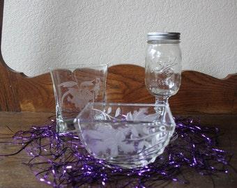 2 Vases & Mason Jar Wine Glass,  #256