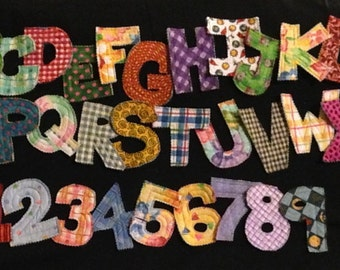 Quilted Alphabet Letters & Numbers-Free Shipping