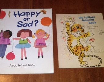Vintage Children's Books - Happy or Sad (A you tell me book) Bank Street College of Education - The Temper Tantrum Book by Edna Preston