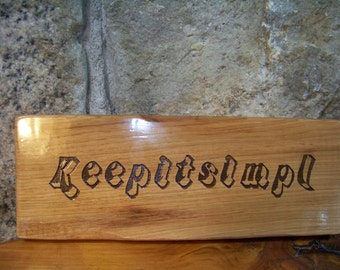 Wall Plaque, Wood, Humor, Keepitsimpl, BL8