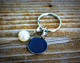 Key Chain Pearl Black