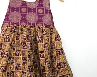 4-5 Years Pocket Sari Maxi, Bohemian Toddler, Kid Fashion, Toddler Dress, Boho Kids, Kids Dress, Hippie Dress, Kids Maxi, Flower Girl
