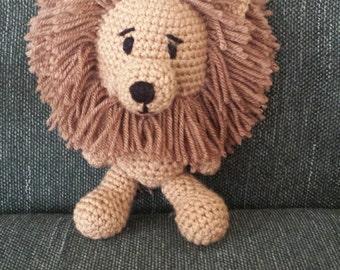 Crocheted  Stuffed Lion