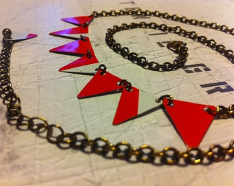 Mod bunting necklace