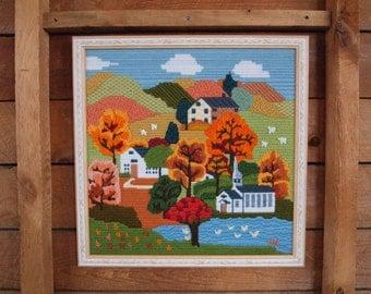 Needlepoint Farm Scene
