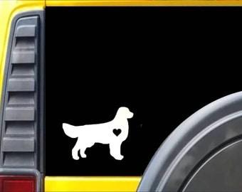 Golden Retreiver Little Heart Dog Decal Sticker *J583*