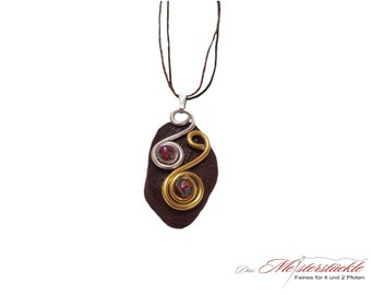 Necklace meets ALU natural stone