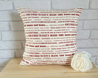 Bless This House Cushion~God Bless This House Pillow~Quotes Cushion~House Blessing Cushion~Throw Pillow for the Home~Religious Pillow