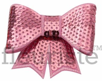 PINK 3 inch Sequin Bows, Mini Sequin Bows, Mini Bows, Sparkly Bows, Fabric Bows, DIY Bows, Soft Bows, Wholesale Bows, Diy Headband