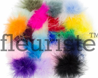 Feather Puffs, Marabou Puffs, Marabou Feather Puffs, Marabou Feathers, Curly Feathers, Feather Puff , Wholesale feather puffs, Choose Colors