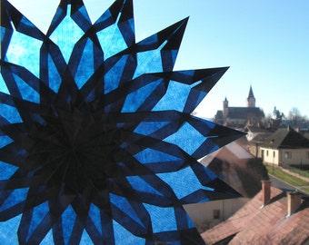 Window mandala, window star, waldorf star, paper art, type DANU