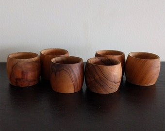 Napkin Rings (set of 6) French Olive Wood