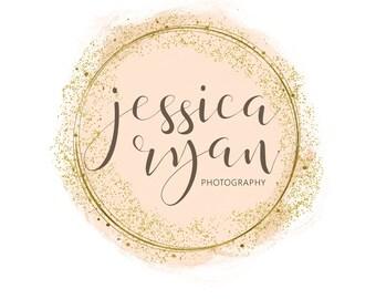 Photography Logo, Calligraphy Logo, Premade Logo, Glitter Logo, Circle Logo, Watercolor Logo, Business Logo, Logo Design,