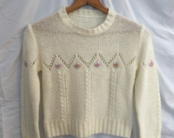 Hand-Made Vintage Cropped Sweater