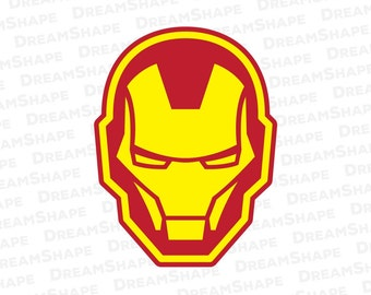 Super Hero SVG Cut File, Iron Man SVG Files, Ironman SVG Cuttable, Superhero Svg Cutting File for Cricut, Screen Printing, Instant Download