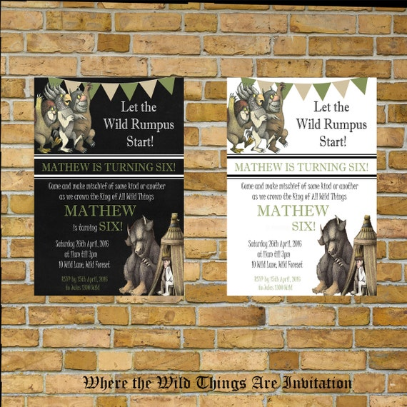 where the wild things are invitation birthday or by creativeshores