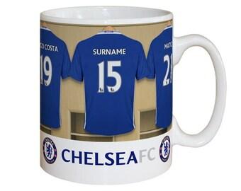 Personalised Chelsea F.C. Dressing Room Mug